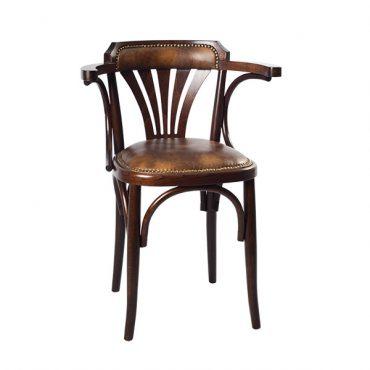 כסא עם ידיות למסעדה - גל ידיות