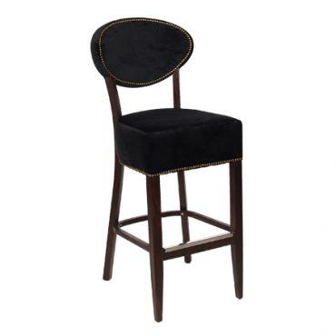 כסא בר עץ מרופד
