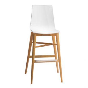 כסאות בר עץ בשילוב פלסטיק