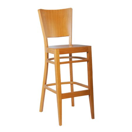כסא בר עץ - דגם נאפל