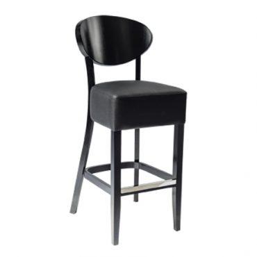 כסא בר עץ - דגם שאנל