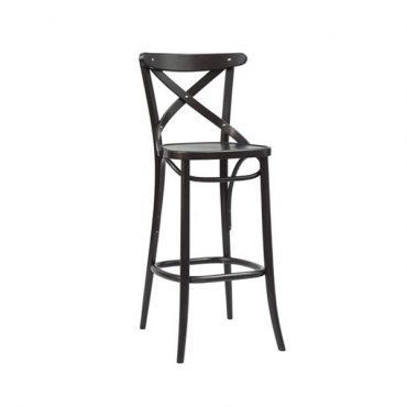 כסא בר עץ - דגם קרוס