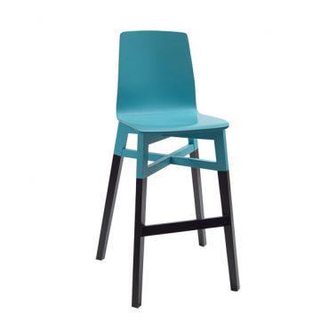 כסא בר עץ - דגם ביורן רגל 03
