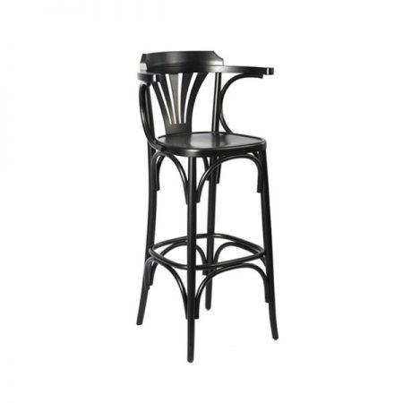 כסא בר עץ - מניפה ידיות
