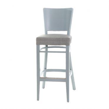 כסא בר עץ - דגם נאפל מרופד