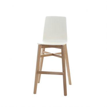 כסא בר עץ - דגם ניס h.pl רגל מרובע 03
