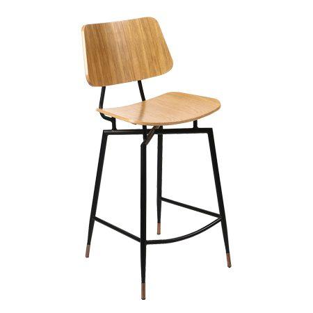 כסא בר מתכת - טמפל