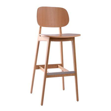 כסא בר עץ - דגם באני