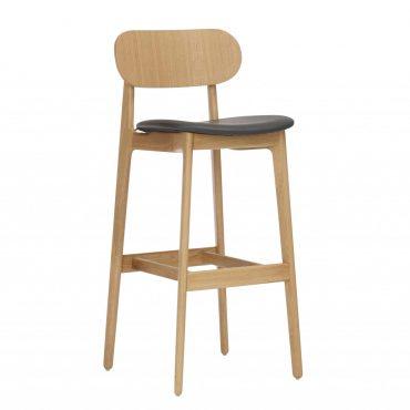 כסא בר עץ - דגם פי.אל.סי