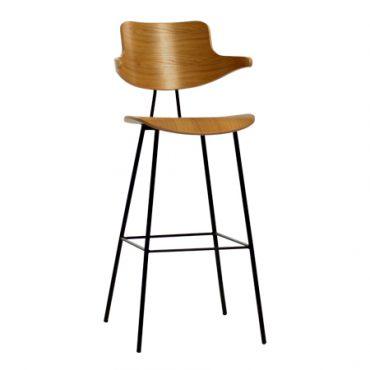 כסא בר מתכת - סקופ