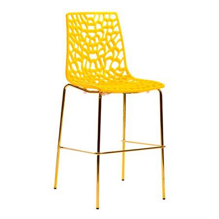 כסא בר מתכת - פלטינה זהב