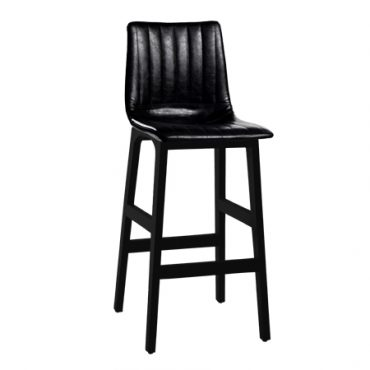 כסא בר עץ מרופד רוג