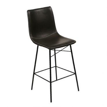כסא בר מתכת - אנג'ל חלק רגל קלאס