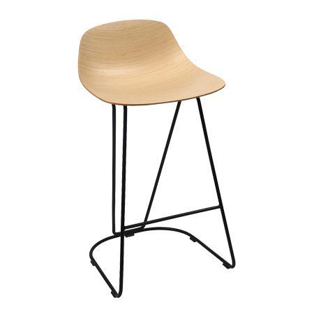 כסא בר מתכת דנדי עץ