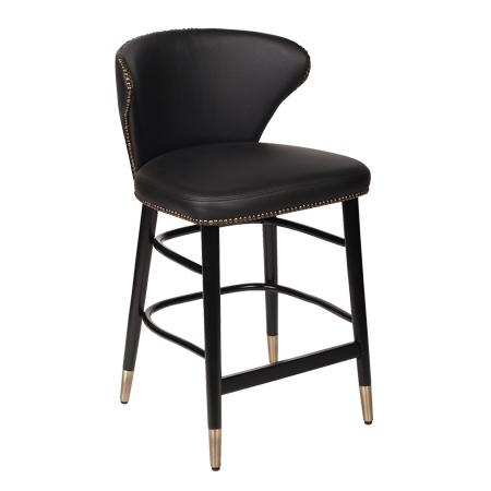 כסא בר עץ מרופד - פישטל
