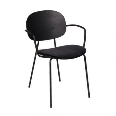 כסא מתכת בשילוב עץ