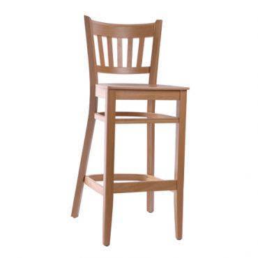 כסא בר עץ אלון