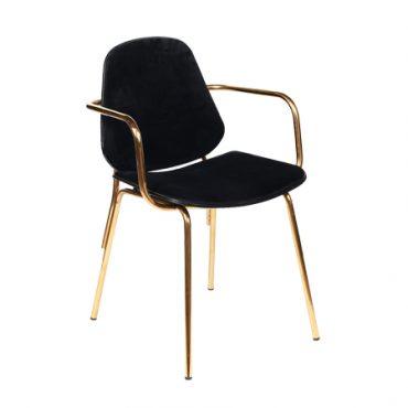 כסא מתכת מרופד