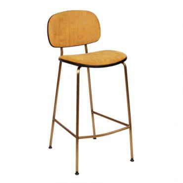 כסא בר מתכת מרופד - בר טוי