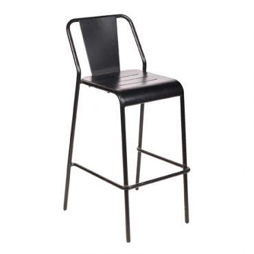 כסא בר מתכת - בר לוט שחור
