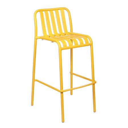 כסא בר מתכת - בר סטריפ צהוב