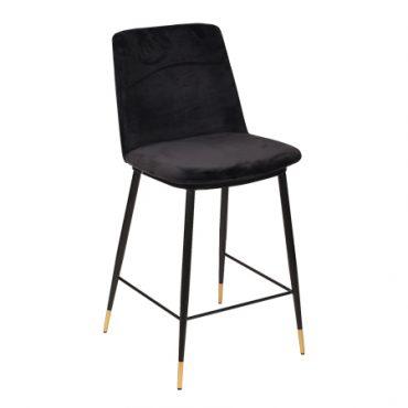 כסא בר מתכת מרופד - בר מסי