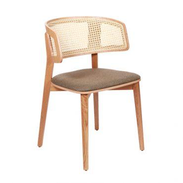כסא עם ידיות - כסא מיתוס גב קש