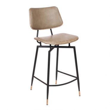 כסא בר מתכת מרופד - בר טמפל