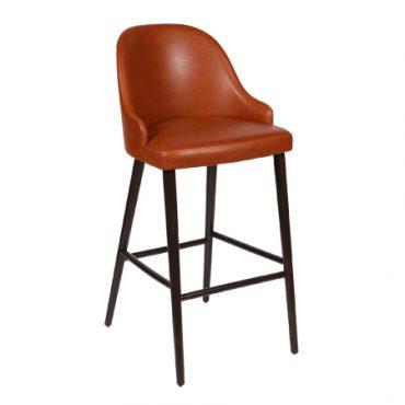 כסא בר עץ מרופד - טרודי