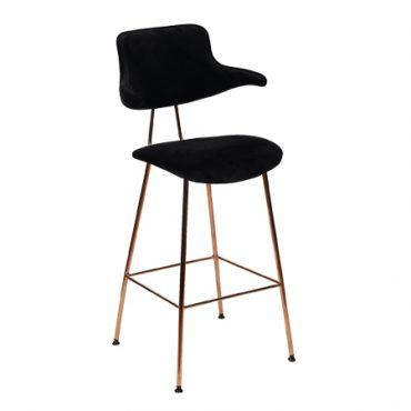 כסא בר מתכת מרופד - סקול אפ