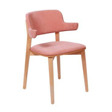כסא מרופד לפינת אוכל - נוגט ידיות