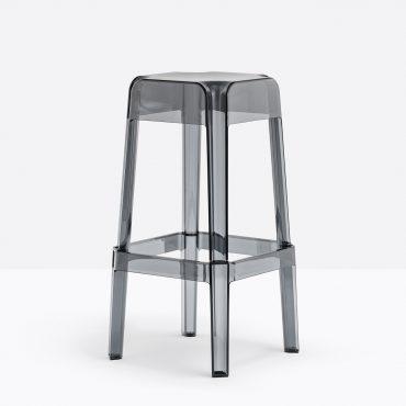 כסא בר בלי משענת מפלסטיק אפור