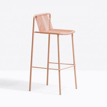 כסא בר מתכת ורוד